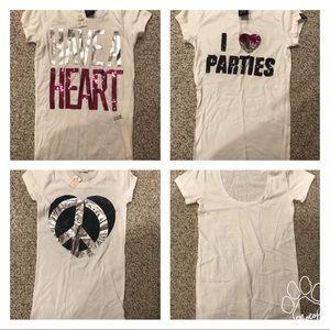 4 Xsmall Victoria's Secret PINK t-shirts new!!